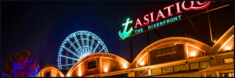 Asiatique Shopping Komplex in Bangkok